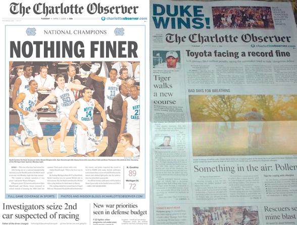 the charlotte observer font. of The Charlotte Observer