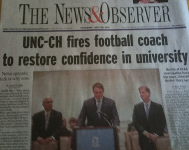 Front page of N&O