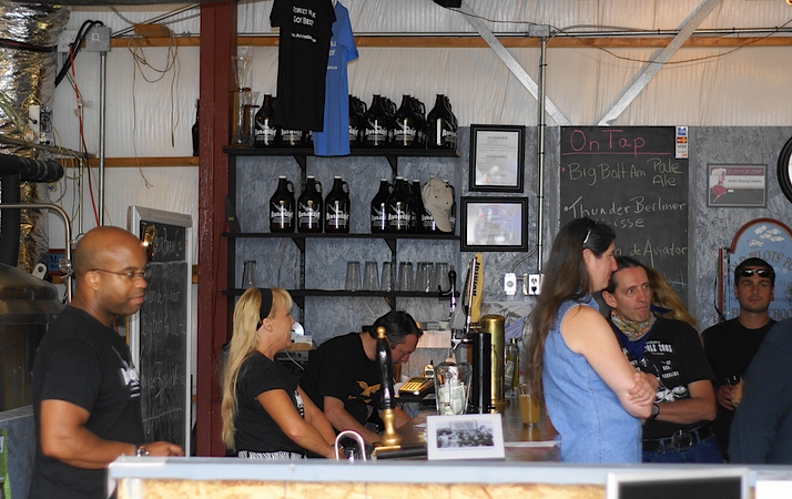 The tap room at Aviator Brewing Company in Fuquay-Varina, North Carolina.