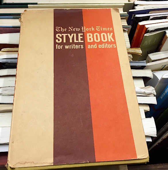 Ap style the editors desk nytstylebook1962 fandeluxe Choice Image