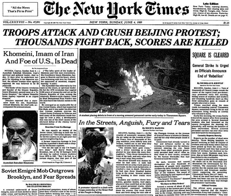 tiananmen-frontpage-NYT